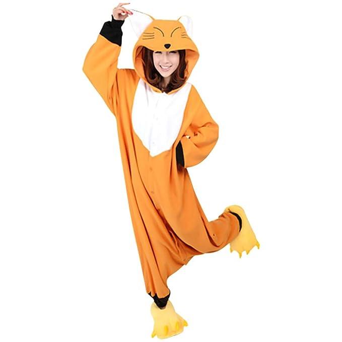 Amazon.com: sinastar disfraz de animal unisex adulto Fox ...