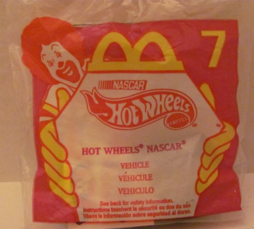 [Mattel HOT WHEELS - McDONALDS Happy Meal TOY Die Cast CAR - HOT WHEELS NASCAR #44 - Bag #7 - 1998 / China (Comes in Original UNOPENED Bag) / *For Children Age 3 and Over / May Contain Small Parts*] (Hot Wheels Happy Meal)