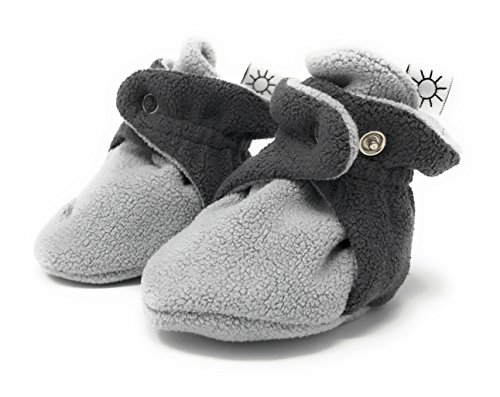Leboha Unisex Fleece Baby Booties 100% Organic Cotton Anti Slip On Select Sizes