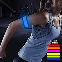 Higo LED Slap Armband, Lights for Running, Glow Bracelets with Color Box Package