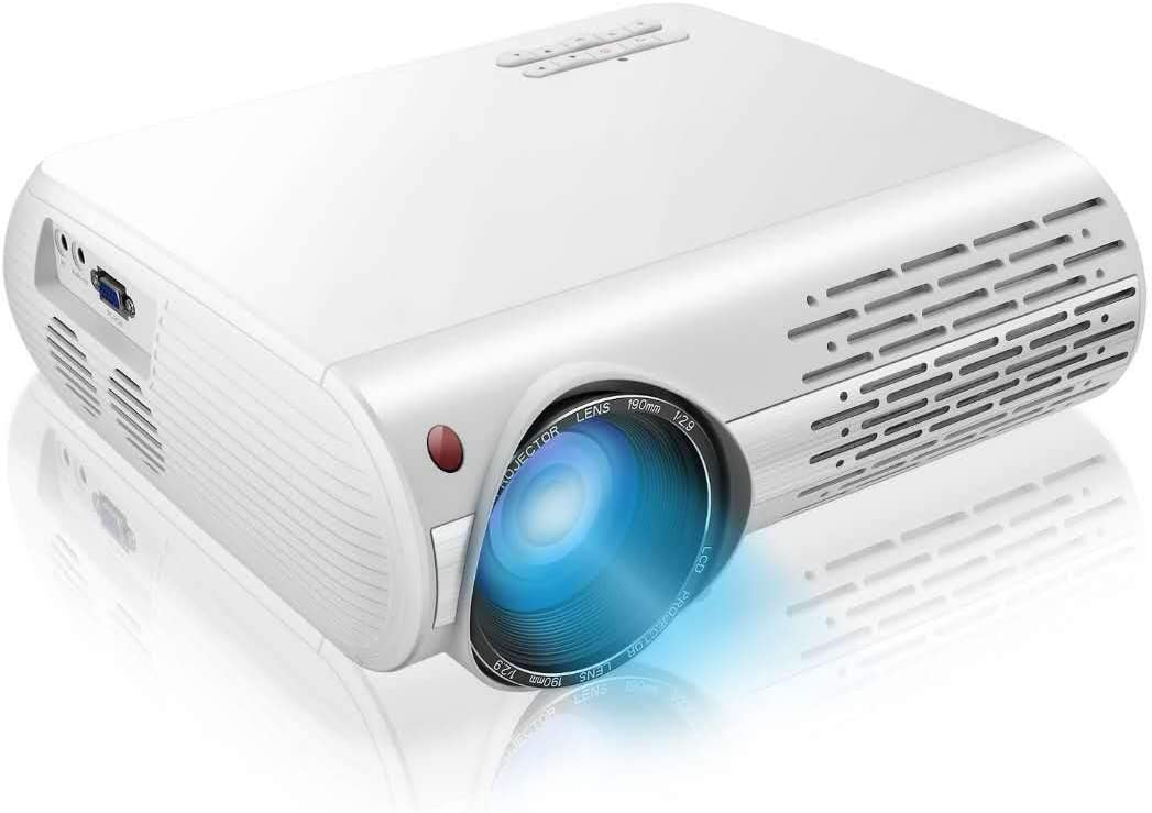 """1080P Projector,7200lux Outdoor Projector with 400""""Display,Support 4K Dolby and Zoom,100000h lamp,Official Business & Home & Outdoor Projector Compatible with TV Stick,HDMI,VGA,USB,Smartphone,PC,Xbox"""