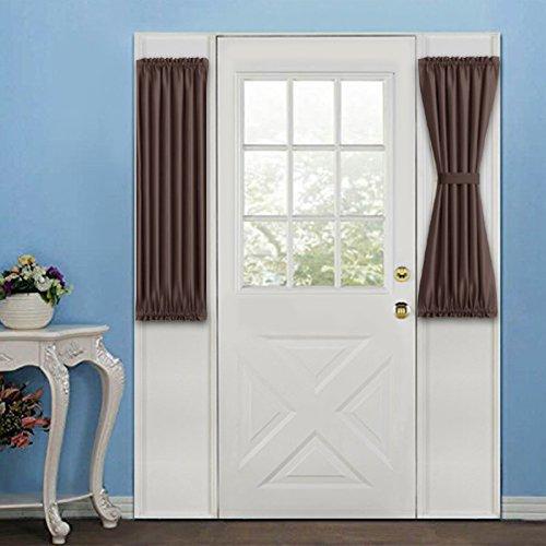 brown door curtain panel - 8