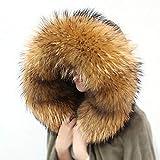 Natural Jacket Fur Collar Raccoon Fur Women Scarves Winter Coat Female Neck Warmer Fur Scarf