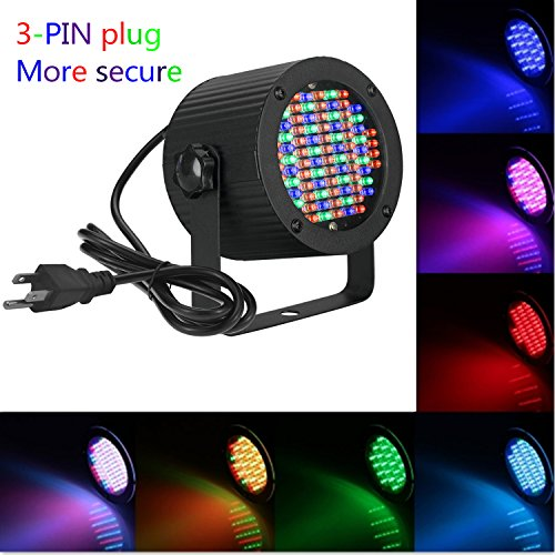 Rainiers 10W Led Uplight RGB PAR Light Mini 86 LEDs 5 Channel DMX512 Colorful Wall Wash for KTV, Bar, Wedding, Festival Party (86RGB) (Rgb Wash)