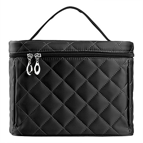 LittleStar makeup bags big size with shape of a diamond Travel Cosmetic Bag (Black) (Bag Quilted Cosmetic)