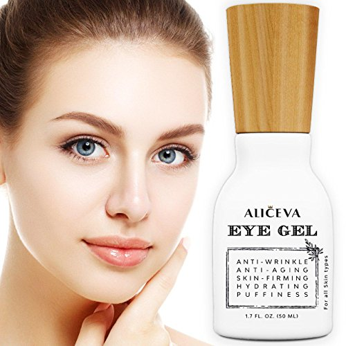Aliceva Eye Gel for Wrinkles, Skin Firming, Fine Lines, Dark Circles, Puffiness and Bags – the Most Effective Anti-Aging Eye Cream(Gel) for Under and Around Eyes – 50 ML For Sale