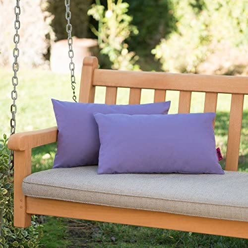Christopher Knight Home Coronado Outdoor Purple Water Resistant Rectangular Throw Pillow Set of 2