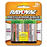 : Rayovac NM713-2 Rechargeable NiMH D Batteries (Two-pack)