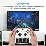 Xbox One Chatpad Mini Gaming Keyboard Wireless Chat Message KeyPad with Audio/Headset Jack for Xbox One Elite & Slim Game Controller Gamepad, 2.4GHz Receiver Included