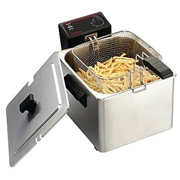 Freidora eléctrica semi-comercial Caterlite de depósito único con recipiente interno desmontable y termostato variable.: Amazon.es: Hogar