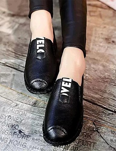 mocasines negro Eu40 Zq Rojo Mujer tacón Black Uk3 Casual Cn34 Uk7 Plano comfort Cn41 us5 Eu35 Gris us9 exterior semicuero Zapatos Gray Gyht De AxqwA0P