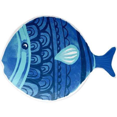 Figural Plate Fish Style 100 Percent Melamine, 6 pks