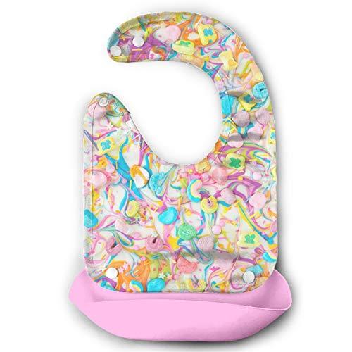 Waterproof Baby Super Bib Feeding Roll-up Bibs Charms