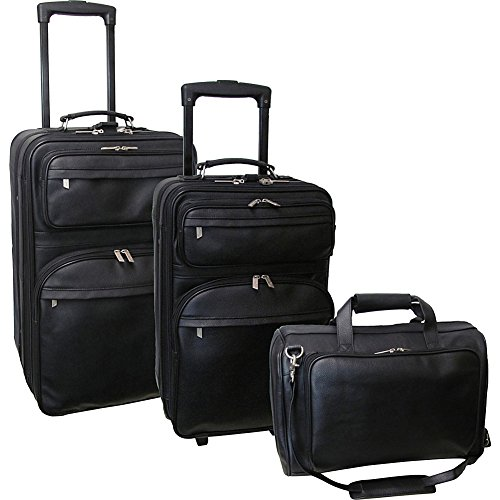 AmeriLeather Leather 3 pc. Set Traveler (Black)
