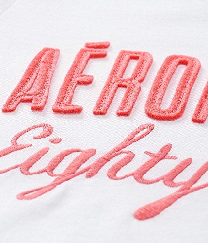 Aeropostale Women's Aero Eighty Seven Graphic T Shirt L Bleach
