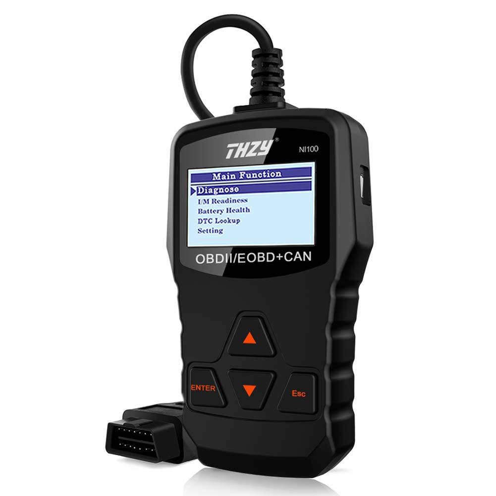 THZY OBD Diagnostic Scanner NI100 OBD 2 code reader Diagnostic scan tool Car Fault Code Reader Battery Health Check scan tool for AUDI/VW/FORD/GM/CHRYSLER/BENZ/BMW/PORSCHE car, SUV, light duty vehicle