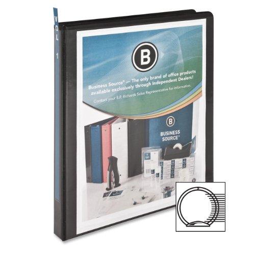 Business Source .5-Inch Standard Presentation Binder - Black (09979) ()