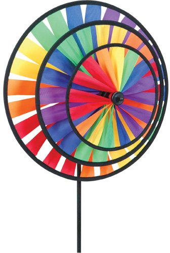 (Bold Innovations  21706 Wind Garden Rainbow Triple Spinner Wheel)