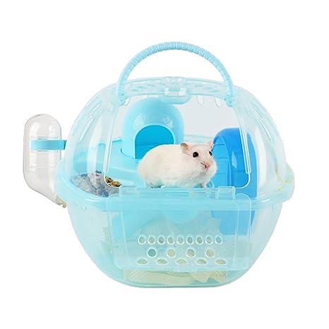 Megawa Hamster portátil para mascotas, jaula de hábitat, ligera ...