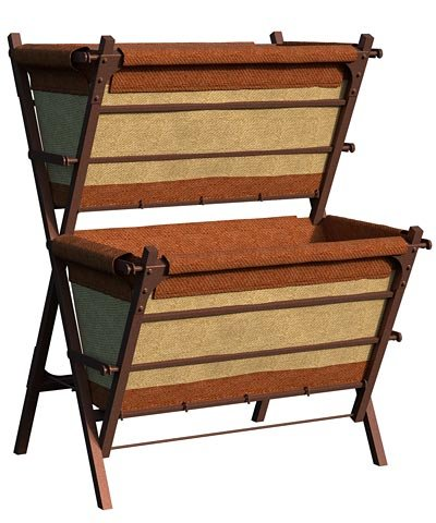 Panacea Two-Tier Vintage Grow Bag Patio Planter & Stand, 26''