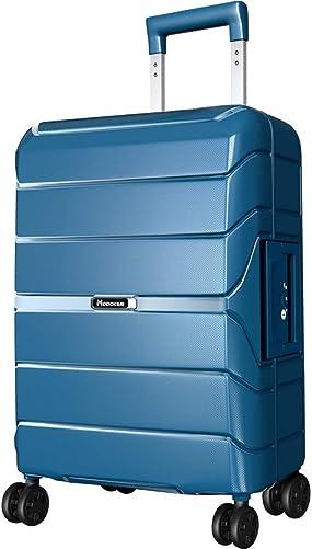 Modoker 20 Hardside Carry On Spinner Suitcase Prussian Blue
