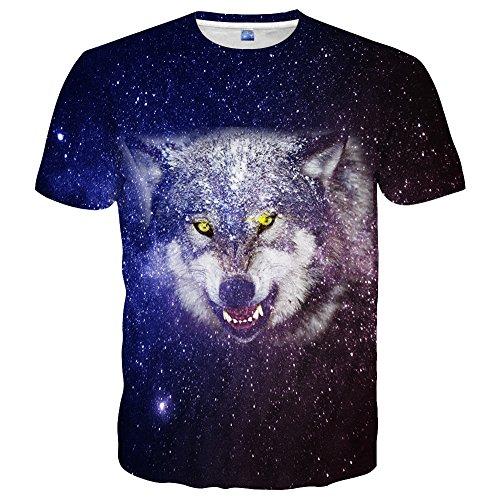 - Hgvoetty Unisex Animal T Shirt Cool 3D Print Tees for Men Juniors Teens L