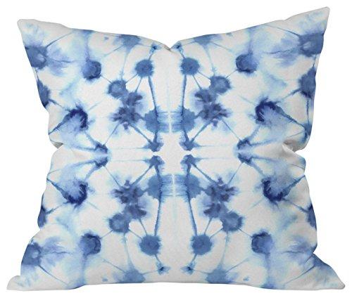 - Deny Designs Jacqueline Maldonado Mirror Dye Blue Outdoor Throw Pillow,  16