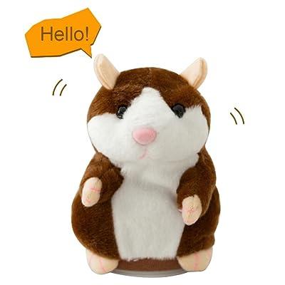 Mignon Mimétisme Animal en peluche Jouets, Aolvo Talking Hamster répète CE que vous Dites Electronic Hamster souris Animal en peluche jouet pour bébé, enfants, filles, garçons