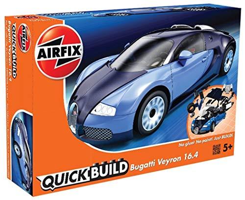 Airfix Quickbuild Bugatti Veyron Supercar Plastic Model Kit (J6008)