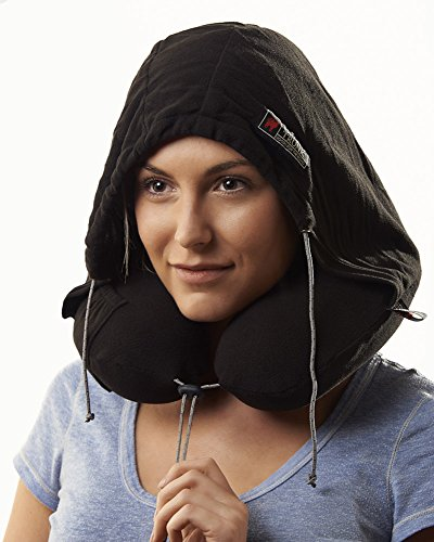 Grand Trunk Blackout Hooded Neck Pillow, Black