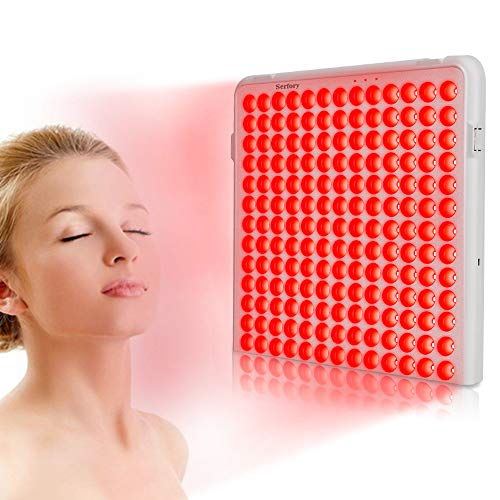 Red Light Therapy Device, Serfory Therapy Light Deep 660nm for Muscle Pain Relief, Improved Blood Circulation and Skin