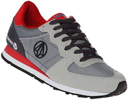 Paperplanes-1142 Unisex Fashion Kleurrijke Low Top Sneakers Schoenen 1142-grey Rood
