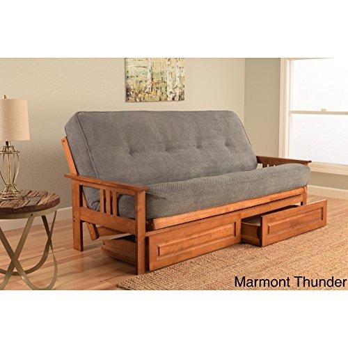- Kodiak Furniture Monterey Frame/Barbados Finsish/Marmont Thunder Mattress/Storage Drawers