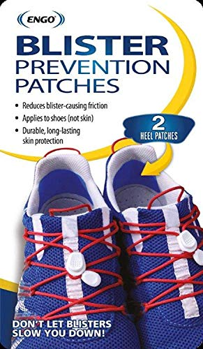 Engo Heel Blister Prevention Patches (2 Patches) | Tennis Shoes, Athletes, Runners, High Heels, Dress Shoes