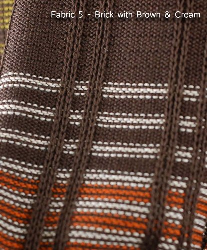 (Neotrims Knit Rib Texture Fabrics By The Yard For Garments, Dressmaking Jersey. Light & Medium Weight Material for Apparel. A Selection of Knitted Craft Jerseys in Stunning Colours, Textures, Ottoman Ribs. Beige, Brown, Denim Blue Tie & Dye, Navy, Orange, Green. Great Price)