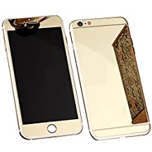 Front+Back Mirror Effect [Full Coverage] Tempered Glass Screen Protector for Apple iPhone 6 / 6S 4.7 inch - fengus Premium 9H Anti Scratch Full Edge to Edge Protection Protector Film - Gold