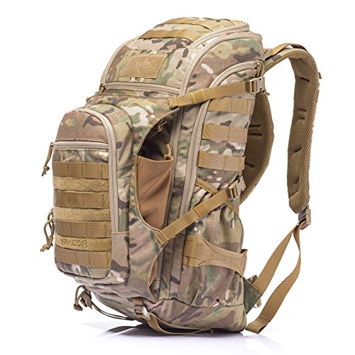 YAKEDA Military Tactical Backpack Large Army 3 Day Assault Pack Molle Bug Out Bag Backpacks Rucksacks for Outdoor Hiking Camping Trekking Hunting 40L -KF-048 (Camouflage)