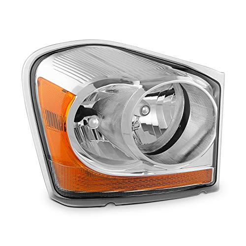 For 2004 2005 Dodge Durango Passenger Right Side Crystal Clear Headlight Headlamp Assembly ()