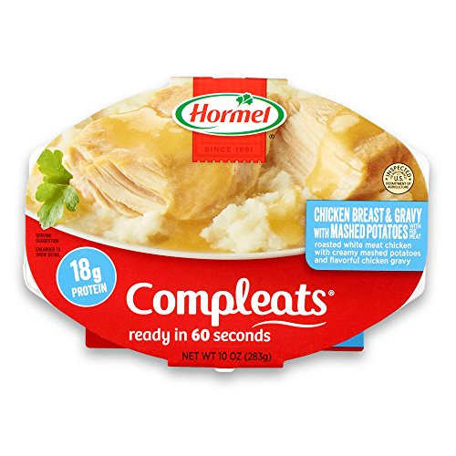 Hormel Compleats Chicken Breast with Rib Meat and Mashed Potatoes with Gravy, 9.5 Ounce (Pack of 6)