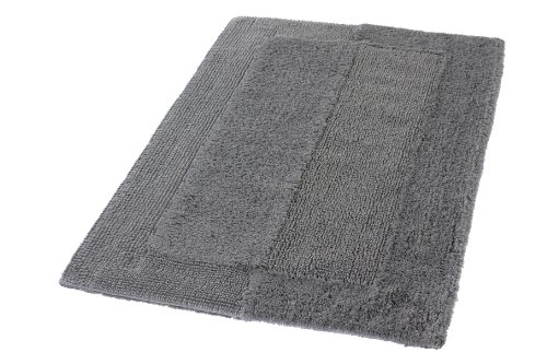 Kleine Wolke Eco Living Havanna Reversible Cotton Bathroom Rug (33.5x59.1in, Slate Grey) by Kleine Wolke (Image #1)
