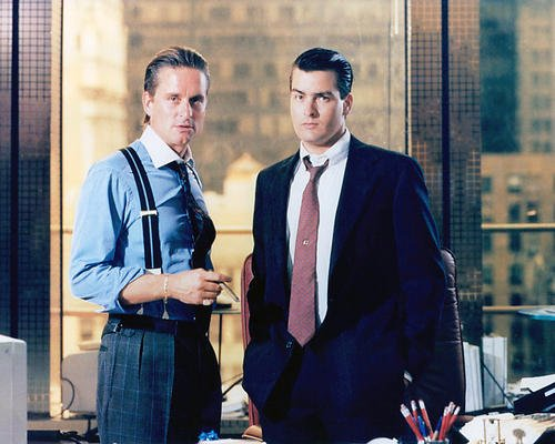 (Wall Street Featuring Charlie Sheen, Michael Douglas 11x14 Promotional Photograph)