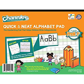 Amazon.com : Channie's EASY PEASY ALPHABET HANDWRITING WORKBOOK ...