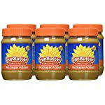 SunButter Natural No Sugar Added Sunflower Butter with hint of salt (Pack of 6) 9 Pack of 6 jars Natural, simple and delicious peanut butter alternative with 7 grams of protein per serving Free from top 8 food allergens: peanuts, tree nuts, milk, eggs, wheat, fish, shellfish and soy