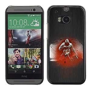 EJOY---Cubierta de la caja de protección la piel dura para el / HTC One M8 / --Asesino