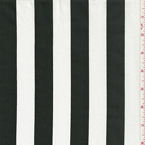 60'' Black/white One Inch Stripe Print Fabric-15 Yards Wholesale By the Bolt