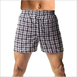 Hanes Men/'s 5-Pack Woven Exposed Waistband Boxers Fashion Plaid XX-Large