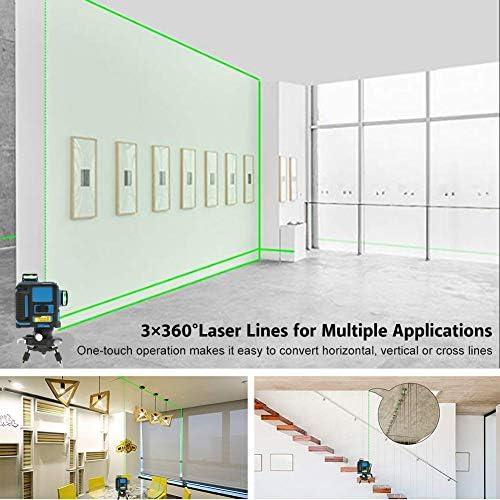 Akozon Nivel láser 12 Líneas 3 * 360 grados horizontales y ...