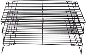 STANDS 3-tire Carbon Steel Cooling Racks Grid Sets, Non-stick Heavy Duty Stainless Steel Baking Racks & Wire Racks lqj57