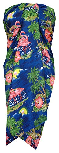 Alvish Sarong 48 Women Scenic Flamingo Beach Swimsuit One Size Pareo Blue]()