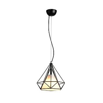 GroBartig Kronleuchter Moderne Minimalistische Diamant Kreative Esszimmer Restaurant  Kreative Persönlichkeit LED Schmiedeeisen Bar Lampen ZHJING (Farbe
